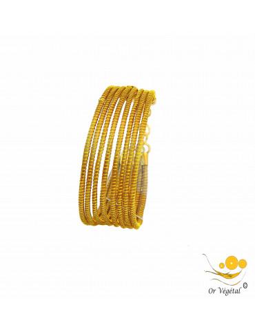 Bracelet en or végétal 8 lignes