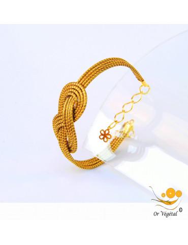 Bracelet en or végétal cerclé en forme de nœud de huit