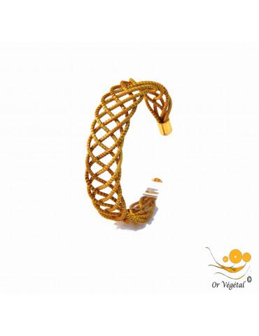Bracelet en or végétal cerclé et entrelacé en mandala