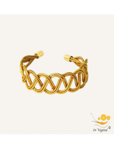 Bracelet en or végétal cerclé et entrelacé avec inspiration celte