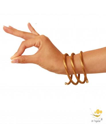 Bracelet en or végétal  en forme de serpentin