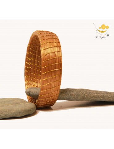 bracelet de bras en or végétal tressé