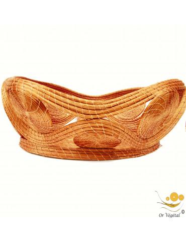 Pannier tréssé en or végétal de forme OVALE