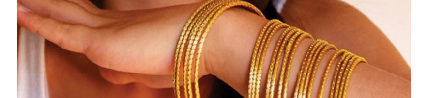Bijoux Bracelets en or vegetal capim dourado