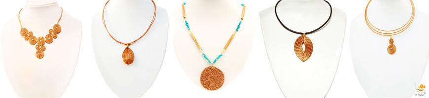 Bijoux Colliers or-vegetal capim-dourado
