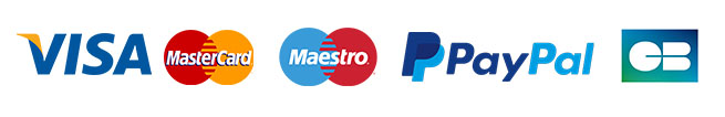 Paiement par Visa, Mastercard, Maestro, PayPal